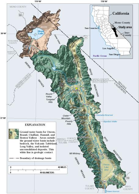 Usgs Ca Owens Valley Hydrogeology Study Area