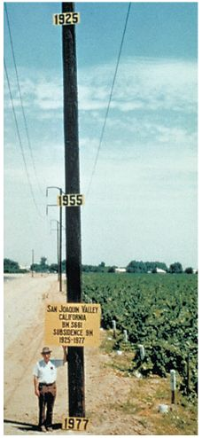 Approximate Location Of Maximum Subsidence In The United States Identified By Research Efforts Of Dr
