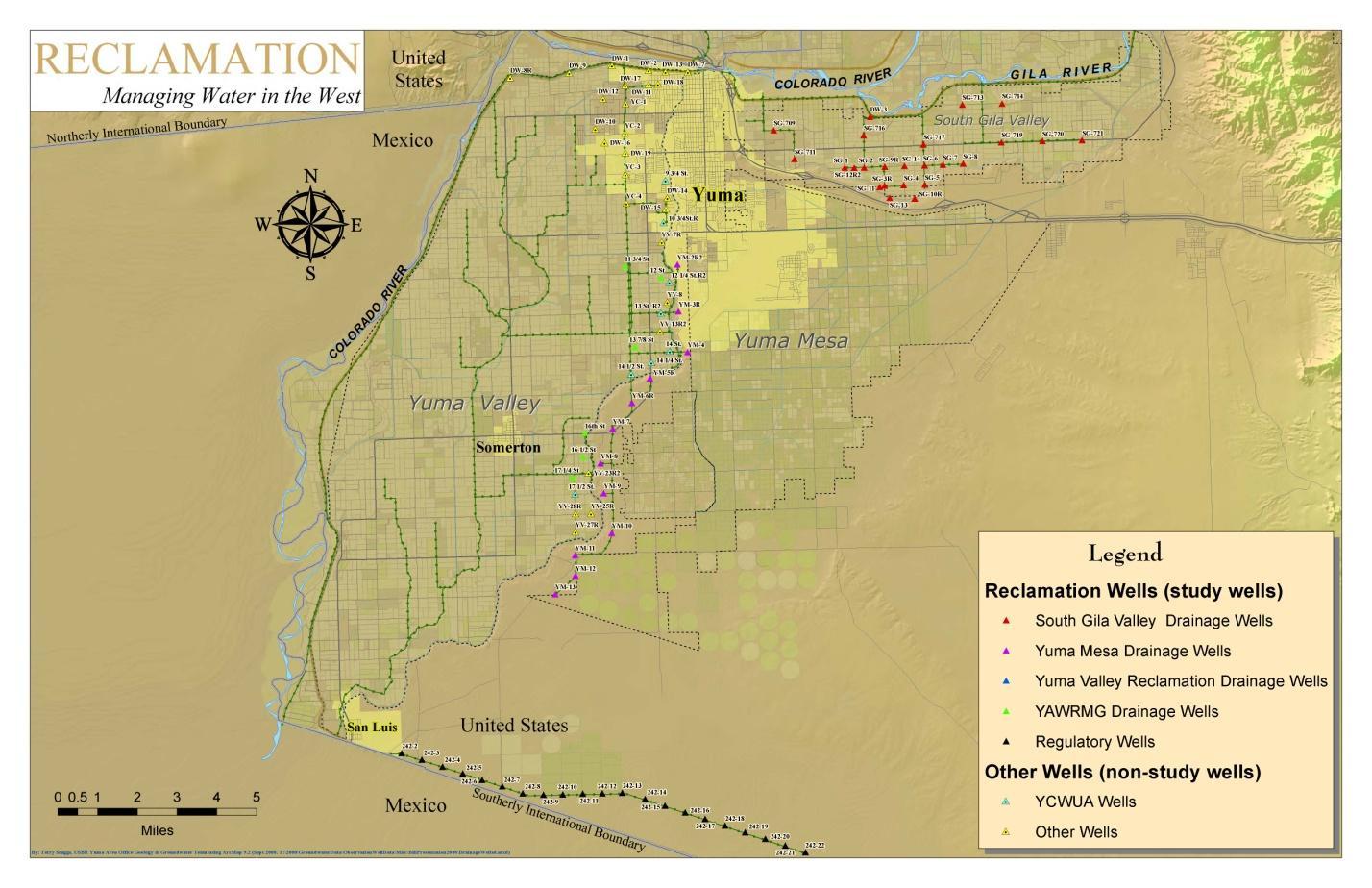 Optimization of Operation of Yuma Area Drainage and Regulatory Wells