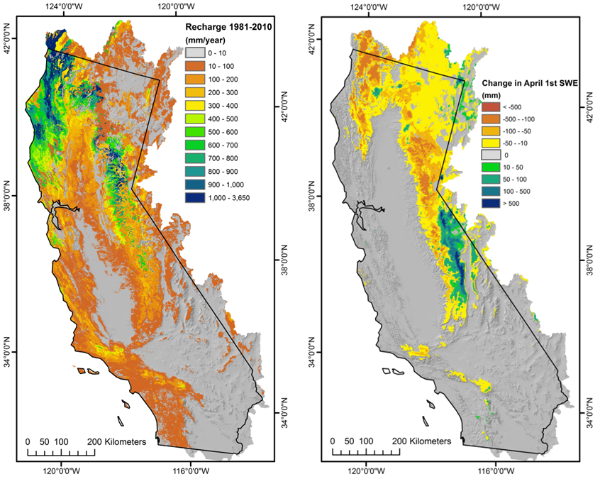 Basin Characterization Model California Dataset USGS CA Water - Us histric map data