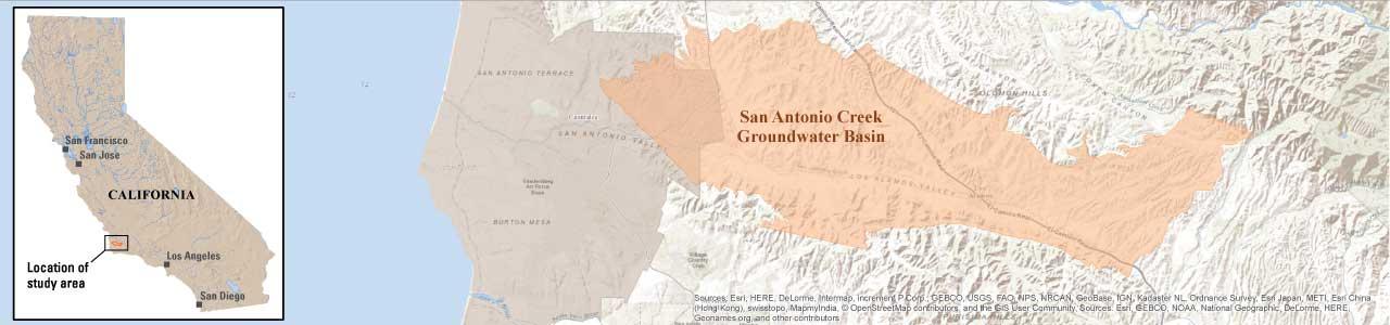 San Antonio Creek Valley Water Resources USGS CA Water Science - San jose water supply map