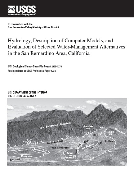 Cover page of USGS Open File Report 2005-1278