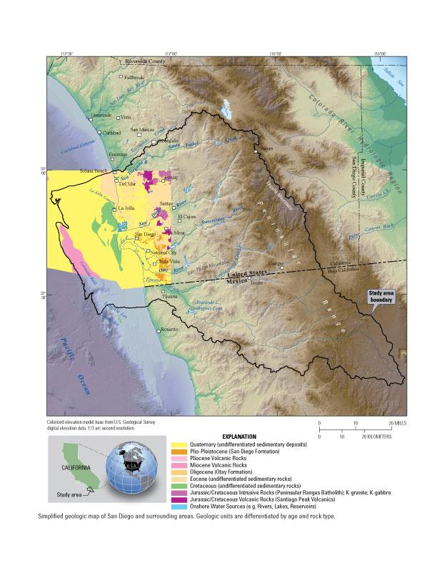 USGS CA San Diego Hydrogeology - California geologic map