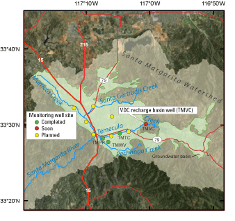 Location of TMVC well site