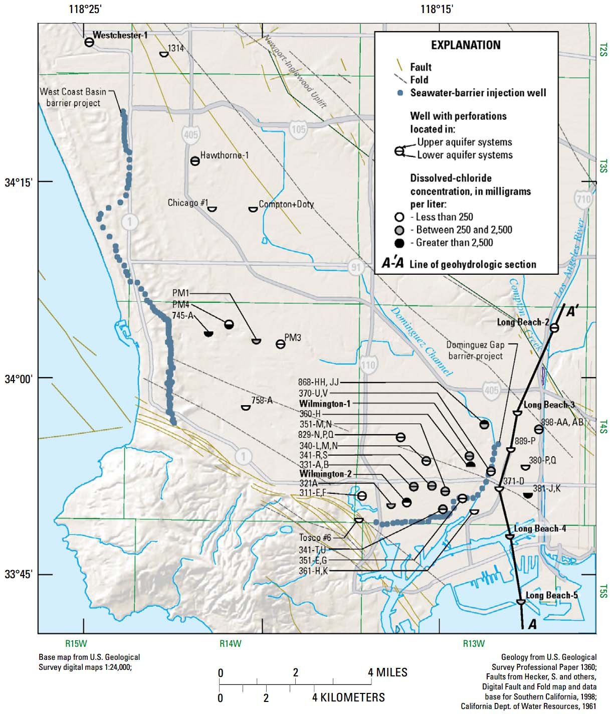 Seawater Intrusion SGMA USGS CA Water Science Center - Saltwater intrusion map us