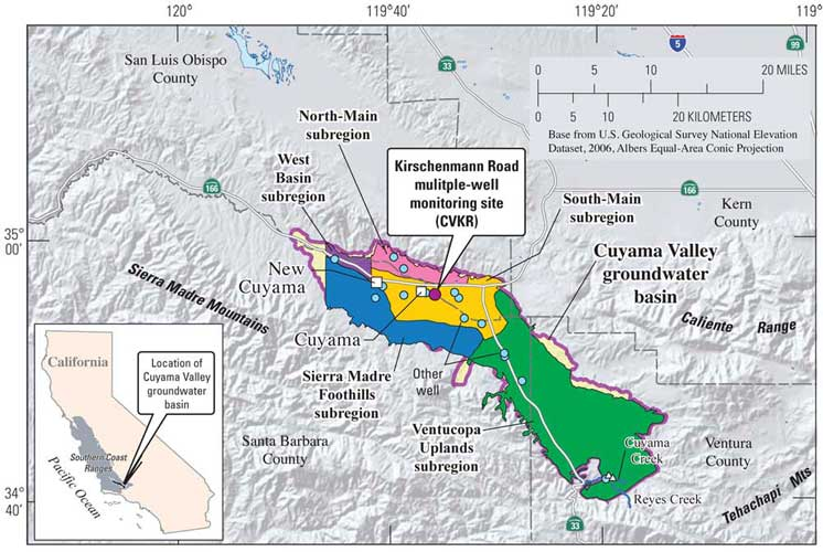 Usgs Well Sites In Cuyama Valley Ca Usgs California