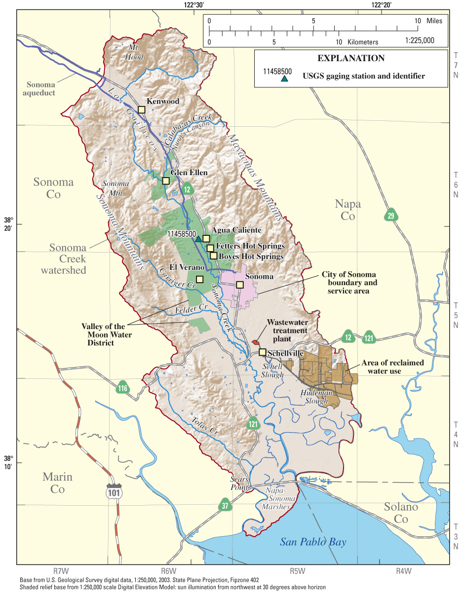Sonoma Valley California Map.Usgs California Water Science Center Water Resources Availability